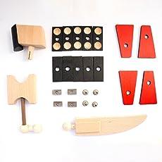 rewoodo Helden Aus Holz - Addon Meteor - Holzspielzeug Baukasten Actionfiguren Holz Metall Junge Mädchen Kinder Spielzeug ab 3 Jahren