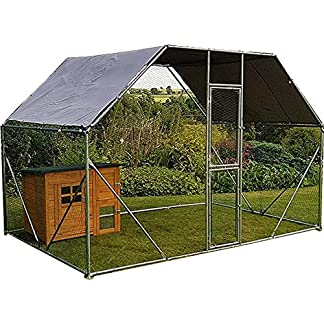 FeelGoodUK Galvanised Chicken Cage, 2mx 3m x 2m Roof Cover Included 'Feel Good UK Walk in Pet Cage 2 x 3 x 2 Galvanised Pet Run Chicken Coop Rabbit Run Dog Pen' 61ktKFnqwkL