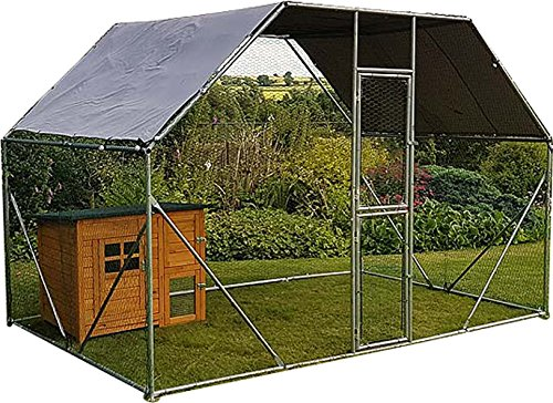 2m x 3m Walk in Dog Kennel Pen Run Plein air Exercice...