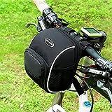 Tancendes Fahrradtaschen am Lenker für Mountainbike MTB Frontrahmen Tube Lenker-Tasche Lenkertaschen mit Regenhülle