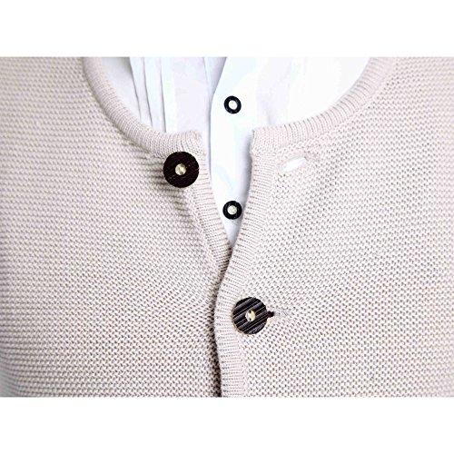 ALMBOCK Herren Strickjacke | Cardigan für Männer in natur grau | Trachten Strickjacke | Größen S, M, L, XL, XXL, XXXL - 2