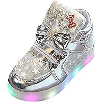 Manadlian Bébé Sneakers Mode Enfants LED Allumer Sneakers pour Enfants Lumineux Star Occasionnel Chaussures Printemps et…