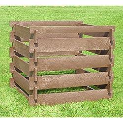 Komposter aus hanit® Recycling-Kunststoff, Steckkomposter 650 Liter, witterungsbeständig, verrottungsfest, Kompostbehälter