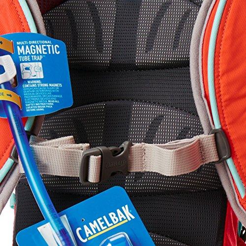 Camelbak, Zaino idrico Donna Magic, Arancione (Flame/Aruba Blue), 38 x 20 x 12 cm, 4 litri Arancione (Flame/Aruba Blue)