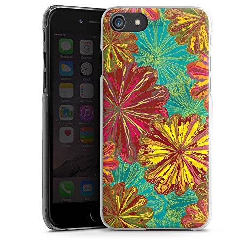 Apple iPhone X Silikon Hülle Case Schutzhülle Herbst Blumen Muster Hard Case transparent