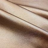 Stoff Meterware Kunstleder bronze Lederimitat Nappa Bezugsstoff stabil neu glänzend