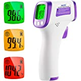 Thermomètre Frontal Infrarouge, Termometre Médical sans contact pour Bébés, Adultes, Enfants avec Alerte Fièvre Thermometre N