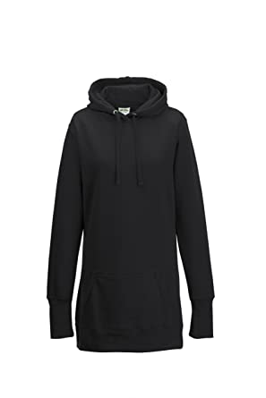 Just Hoods Girls Longline Hoodie, Hooded Sweatshirt, Ladies ...