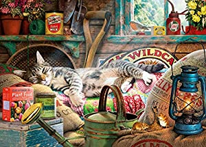 Gibsons Snoozing in The Shed - Puzzle (500 XL)