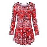 JUSTSELL ▾ Kleid - Für Frauen Mit Ethno-Print Ethnisches T-Shirt Strandkleid Minikleid Tunika Vintage Böhmische Retro Vintage Skaterkleid Basic Kleid Swing Festlich Kleid Schleife