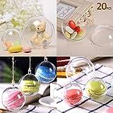 20 x palla trasparente plastica palla di Natale Ornamentale per decorare alberi di Natale (5 cm)