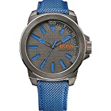 1513008 Boss Men's Watch Analogue Quartz Bracelet and Blue Textile Cover