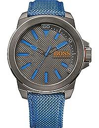 Hugo Boss Herren-Armbanduhr XL Analog Quarz Textil 1513008