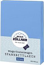 Julius Zöllner Jersey Spannbetttuch für Wiegen 90x40 cm und Stubenwagen, in verschiedenen Farben