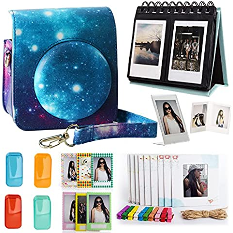 Woodmin Fujifilm Instax Mini 70 Cámara de bolsillo Accesorios Bundle Galaxy (Mini 70 casos/Escritorio Álbum/Decoración Marcos/Film pegatinas/Filtros/Foto