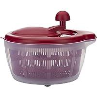 Westmark Essoreuse à Salade, Capacité : 5 litres, ø 26 cm, Plastique, sans BPA, Fortuna, Couleur : Transparent/rouge…