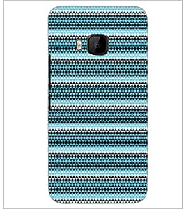 PrintDhaba Pattern D-5167 Back Case Cover for HTC ONE M9S (Multi-Coloured)