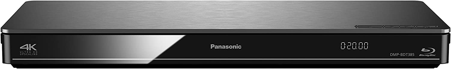Panasonic DMP-BDT385EG 3D Blu-Ray Player (4K Upscaling, WLAN, DLNA, VoD, HDMI-Steuerung, USB, NAS) Silber