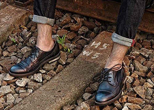 Insun , Chaussures de ville à lacets pour garçon Bleu