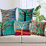 #3: Aart Pattern owl printed Cushion Cover (Set of 5) by Aart Store