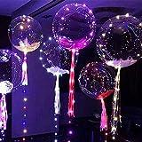 5 Stück 45,7 cm Helium Balloons, leuchtende Luftballons, Transparent LED-Licht Dekorative Bubble Ball für Bar, KTV, Geburtstag, Hochzeiten, Feiern, Weihnachten Dekoration