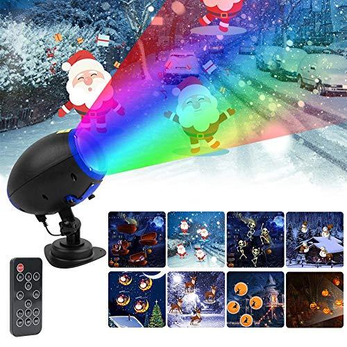 Bulary Projektor Licht Drahtlose Fernbedienung High Light Cartoon Projektor Lampe LED Dekorative Rasen Outdoor Taschenlampe Karte Einfügung Licht Halloween Weihnachten Urlaub Dekoration Licht