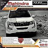 #8: Mahindra Dual Tone Stickers for Mahindra XUV 500 Black-Red - CarMetics