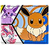 Pokemon Eevee Evolutions-Panel Blau Portemonnaie Geldbörse