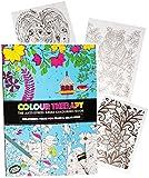3 Stück _ A4 - großes Malbücher -  Colour Therapy  - 64 Seiten - Anti Streß - für Erwachsene & Kinder - Buch zur Entspannung Therapie - Kindermalbuch - Erwa..