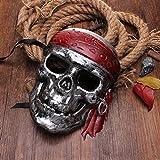 PhilMat Piratas hallowmeen de la máscara del cráneo del Caribe