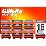 Gillette Fusion 5 Cuchillas de Afeitar Hombre, Paquete de 16 Cuchillas de Recambio (El Diseño Exterior del Paquete Puede Vari