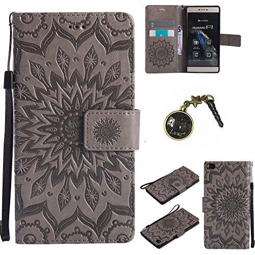 Preisvergleich Produktbild PU Silikon Schutzhülle Handyhülle Painted pc case cover hülle Handy-Fall-Haut Shell Abdeckungen für (Huawei P8) +Staubstecker (2FF)