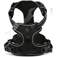 Pets Empire Padded Easy Fit Dog Chest Harness Car with Front Clip Adjustable Soft Mesh Handle for Large Dogs, Small…