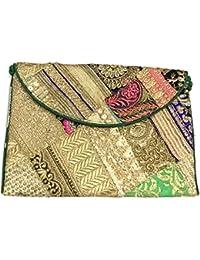 Shubhangi Women's Sling Bag (Jaipuri Embroidered Handicraft Traditional Sling Bags,ZARI GOTA WORK,Multi-Coloured... - B0781TCGVL