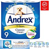 Andrex Classic Clean Toilet Roll Multiple Packs Tissue Paper 9 Rolls 2Ply Cotton