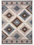 Benuta Outdoor Teppich Star Kilim Braun 120x170 cm | Pflegeleichter Teppich geeignet für Innen- und Außenbreich, Balkon und Terrasse