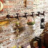 QBDS Creative rétro fer fer forgé mur décoratif décoratif Living Room stéréo Wall Wall Décorations fond mural mur pendentif rétro style industriel vent Pendentif décoratif ( couleur : # 2 )