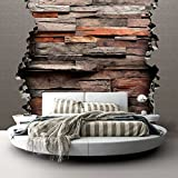 murando - Fototapete Holzoptik 350x256 cm - Vlies Tapete - Moderne Wanddeko - Design Tapete - Wandtapete - Wand Dekoration - Steinoptik f-C-0170-a-a