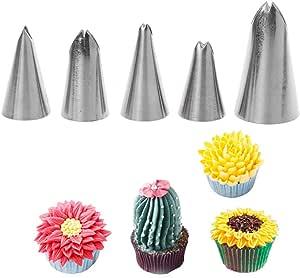 Cupcakes Spritzt/üllen aus Edelstahl f/ür Spritzt/üllen Geb/äck Creme Kuchen 3 St/ück