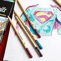 Lápices de Colores Colore – Set 72 Lápices Premium Pre-Afilados para Dibujar y Colorear Libros – 72 Colores Vivos