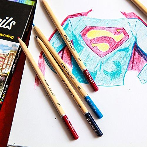 Colore Matite colorate - Set di 72 pastelli pre-temperati di alta qualità per disegnare e colorare - Ideali per la scuola, per adulti e bambini - 72 colori brillanti