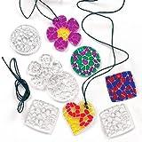 """Kette mit Acryl-Anhängern """"Mosaik-Kristalle"""" - Halskette - Schmuck für Kinder"""