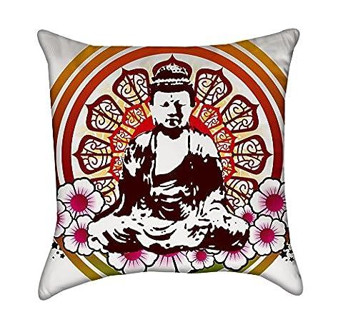 coloré Bouddha Mandala Couvre-lit Taie d'oreiller, polyester & polyester mélangé, 16 Inches x 16 Inches