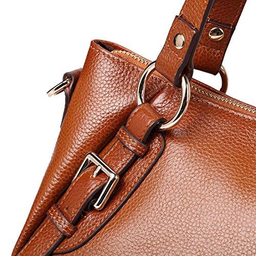 SAIERLONG Damen Europäischen Und Amerikanischen Stil Blau Erste Schicht Aus Leder Handtaschen Damenhandtaschen Umhängetaschen Schultertaschen Rosenrot
