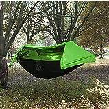 Camping Hamac avec Moustiquaire et housse de pluie - Hamac Suspendu Double avec Abri...