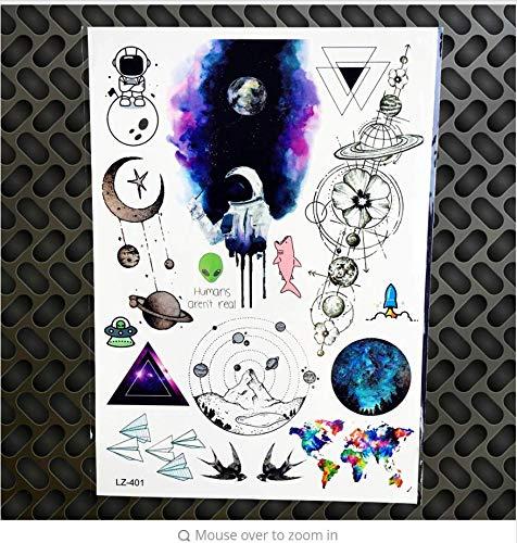 Bär Wasserdicht Schwarz Temporäre Tätowierung Aufkleber Weibliche Körper Kunst Elch Gefälschte Wassertransfer Geometrie Tattoo Männer Wolf ()