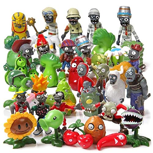 Pflanzen VS Zombies - Set 40 Figuren 3-7cm / 40 Figuren Set (Pflanzen Zombies Figuren)