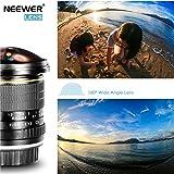 Neewer 8mm f / 3.5-22 Asphärische HD Fischaugenobjektiv mit Schutz Objektivdeckel, abnehmbare Tulpe Gegenlichtblende und Tragetasche für Nikon DSLR Kameras Test