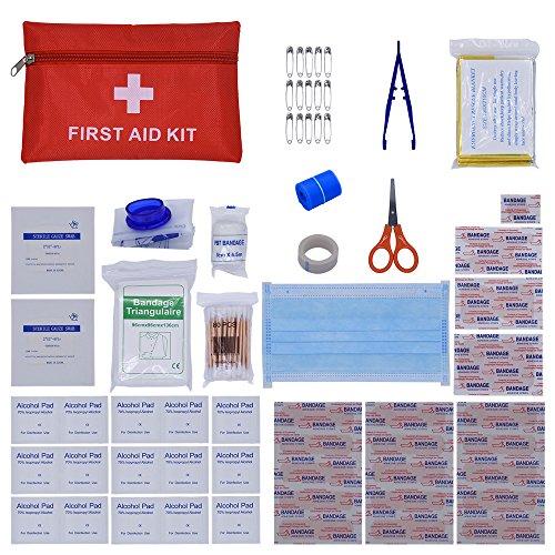 ZEVONDA 95 Stück Erste Hilfe Kit Bag Tragbar Outdoor-Reisen / home Mini Erste Hilfe Set Bag