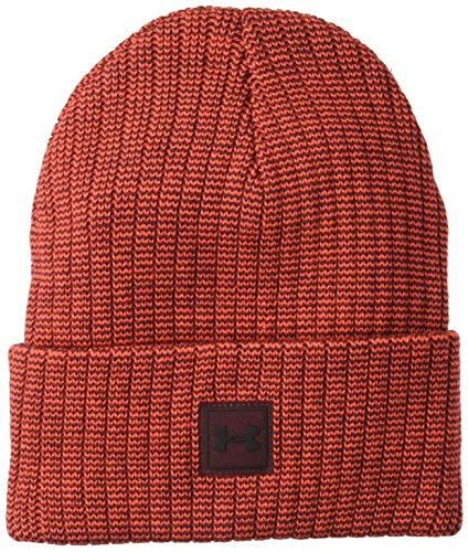 Under Armour Herren Truckstop Beanie 2.0 Mütze, Radio Red/Dark Maroon(890), OSFA